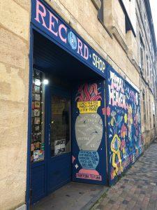 Facade de la boutique records shop