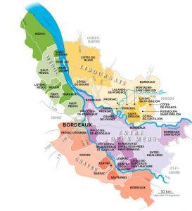 Carte vin de bordeaux
