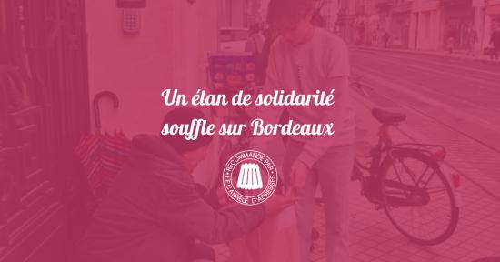 Un élan de solidarité souffle sur Bordeaux